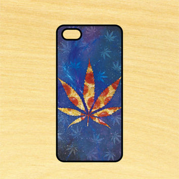 Pizza Weed Leaf in Space Design iPhone 4/4S 5/5C 6/6+ and Samsung Galaxy S3/S4/S5 Phone Case