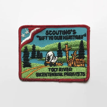 Vintage 70s BSA PATCH / 1970s Gift To Our Heritage Patch Boy Scout
