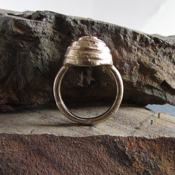 Rough and ancient style cast bronze ring // rustic ring / artisan ring / unique ring / statement ring / rustic jewelry / unique jewelry