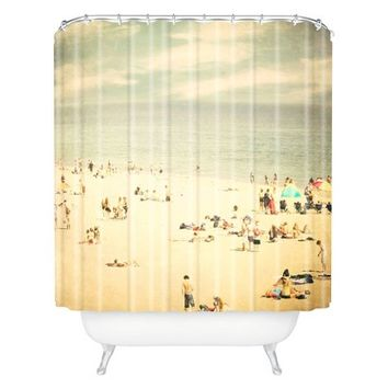 DENY Designs Vintage Beach Shower Curtain