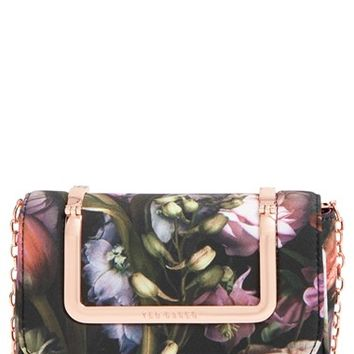 Ted Baker London 'Shadow Flora' Crossbody Bag - Grey