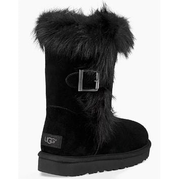 UGG Women Fur Shoes Boots Winter Half Boots Shoes