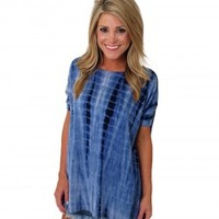 The Original Tie Dye Piko Top - Material Girls