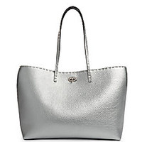 Fendi - Carla Selleria Metallic Leather Tote - Saks Fifth Avenue Mobile