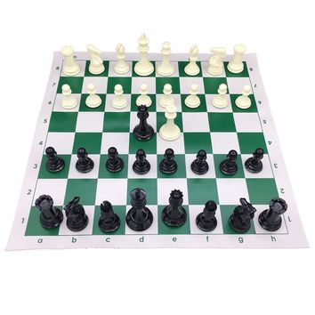Heavy Big Large Size Chess Pieces King 10.6 cm With 51 cm * 51 cm Vinyl Chessboard Tournament Chess Set Roll Up Chess 2  Queen