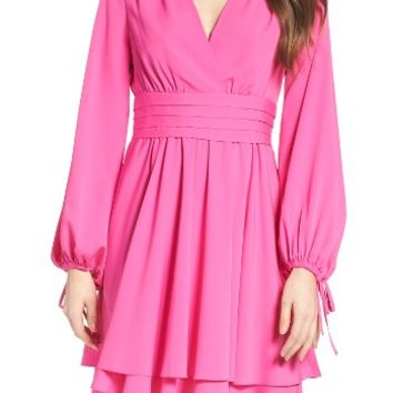 Eliza J Tie Sleeve Fit & Flare Dress | Nordstrom