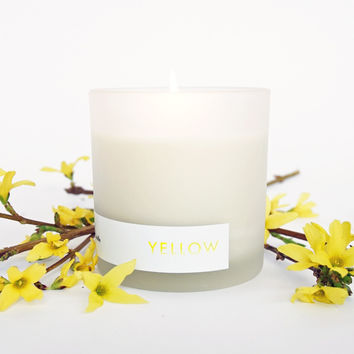 YELLOW Natural Soy Candle, 8oz