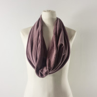 WASHED BURGUNDY Cowl Neck Scarf - Brick Infinity Scarf - Cotton Scarf - Available in Many Colors
