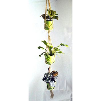 Three Tier Vintage-Inspired Macrame Plant Hanger