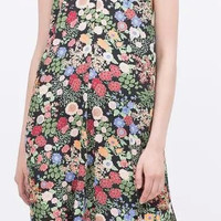 Floral Print Spaghetti Strap Criss-Cross Dress