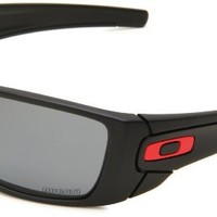 Oakley Mens Fuel Cell OO9096-44 Polarized Square Sunglasses,Matte Black Frame/Grey Lens,One Size