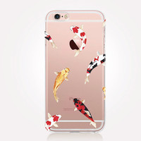 Transparent Koi Fish iPhone Case - Transparent Case - Clear Case - Transparent iPhone 6 - Transparent iPhone 5 - Transparent iPhone 4
