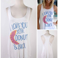 I Love You To The Donut And Back Tank Top