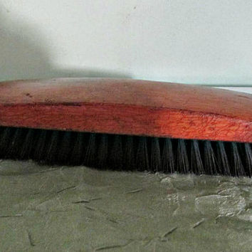 Vintage Soviet Clothing Brush made in USSR, Primitive Tool, Rustic Home Decor