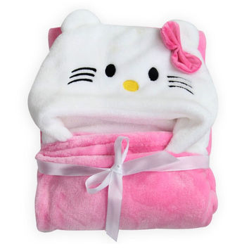 fashion cartoon animal style baby hooded bathrobe high quality Super soft infant bath towel bath robe children  beach towels