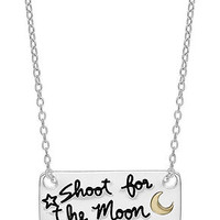 Unwritten Two-Tone Necklace, Shoot for the Moon Pendant