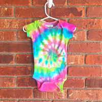 Tie Dye Baby Onesuit - 3-6 Months - Ready To Ship!