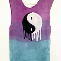Custom Colors Dripping Yin-Yang  on T-shirt, Tank or Crop Top