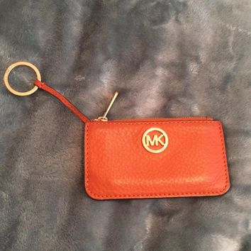 MK Michael Kors Orange Keychain Wallet
