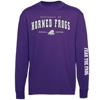 TCU Horned Frogs Youth Double Hit III Long Sleeve T-Shirt - Purple