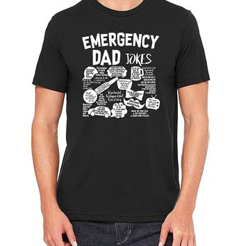 Emergeny Dad Jokes - Funny Men's T-shirts
