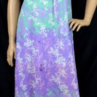 Umgee Cage Back Belted Maxi Dress-Purple/Mint