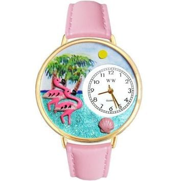 Flamingo Watch in Gold (Large)
