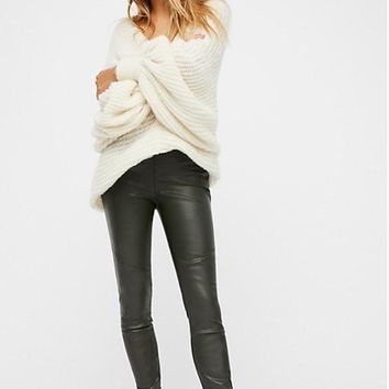 Free People Vegan Leather Leggings