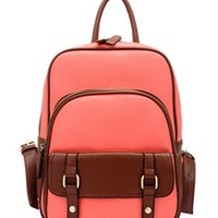 ZLYC Vintage Leather Backpack School Bag