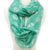 Skull & Roses Infinity Scarf: Charlotte Russe