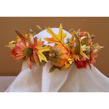 Samhain autumn wedding Faerie Fairy Head Wreath