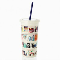 Insulated Tumbler in Bella Bookshelf by Kate Spade