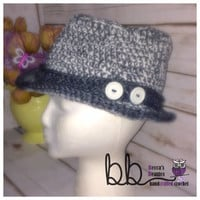 Fedora 2-tone - crochet made to order - ALL SIZES