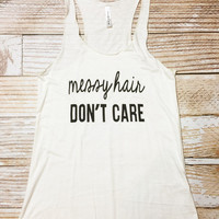 Messy Hair DON'T CARE - IVORY