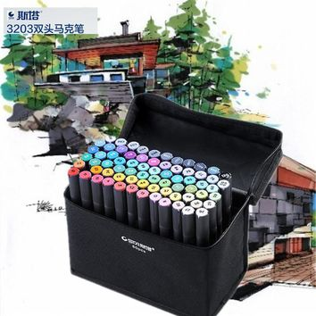 STA Art Sketch Marker Pen 30 Colors Black Pen Copic Double Head Alcohol Based Ink Painting Drawing Copic Marker Manga Pen
