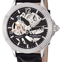 Stuhrling Original Men's 170.33151 Classic Delphi Helix Automatic Skeleton Black Watch