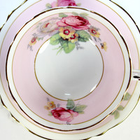 Superb Paragon Floral Bone China Teacup, Collectible Tea Cup and Saucer 12538