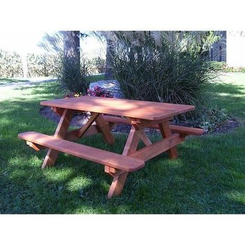 "A & L Furniture Co. Amish Made Pressure Treated Kids Table (22"" Wide) - Specify for FREE 2"" Umbrella Hole  - Ships FREE in 5-7 Business days"