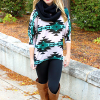 Meet Me In Montana Tunic - Teal