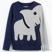 Elephant Pattern Hoody Tee for Women from Cool   Style