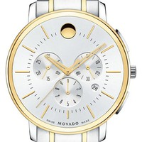 Men's Movado Chronograph Bracelet Watch, 42mm - Silver/ Gold