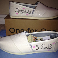 Just Married Wedding Custom TOMS