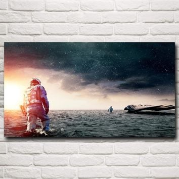Space Interstellar Film Stills Movie Art Silk Fabric Poster Prints Home Wall Decor Pictures 11x20 16x29 20x36 inch Free Shipping