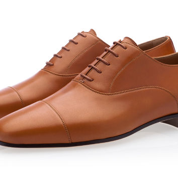 HECTOR NAPPA COGNAC LACE-UP