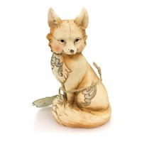 Jim Shore SLY, SPRY, & DIGNIFIED Polyresin White Woodland Fox 4056971