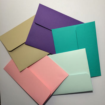 "3.5x5"" envelopes with cards - any color (10)"