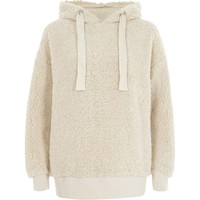 Cream fleece hoodie - Hoodies / Sweatshirts - Tops - women