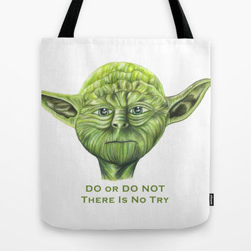 Yoda - Try Tote Bag by Susaleena