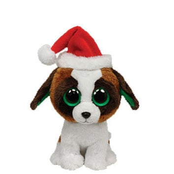 TY Beanie Boos - PRESENTS the Dog with Santa Hat (Medium Size - 9 inch): BBToyStore.com - Toys, Plush, Trading Cards, Action Figures & Games online retail store shop sale