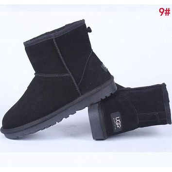 """UGG"" Winter Fashionable Women Ankle Warm Wool Snow Boots 9# I/A"